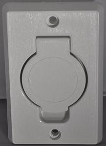 Plastiflex Built in Central Vacuum Cleaner White Auto Inlet Round Door