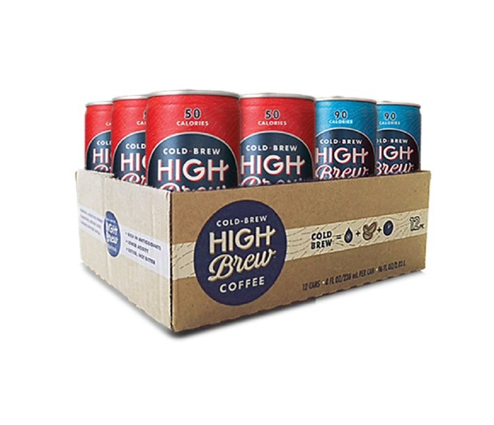 High Brew Cold Brew Coffee Double Espresso/Mexican Vanilla Variety Pack 8 Ounce Can (12 Count) by High Brew Coffee
