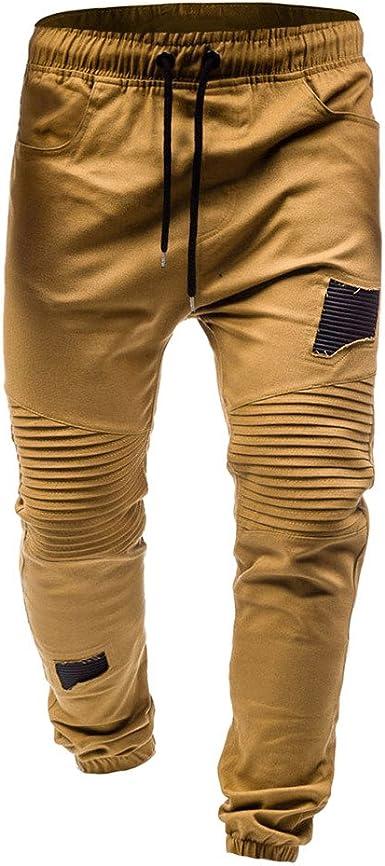 YanHoo Pantalones de chándal clásicos con Cordones para ...