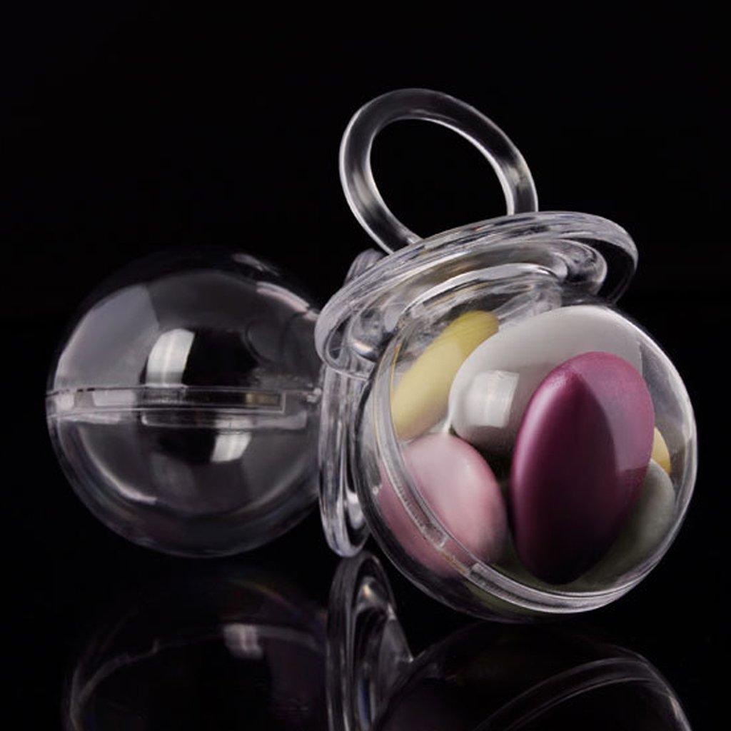 Rose Sharplace 12pcs//Kit Bo/îte Cadeau Plastique Sucette Bonbonni/ère /à Bonbon Drag/ées pour Bapt/ême Baby Shower