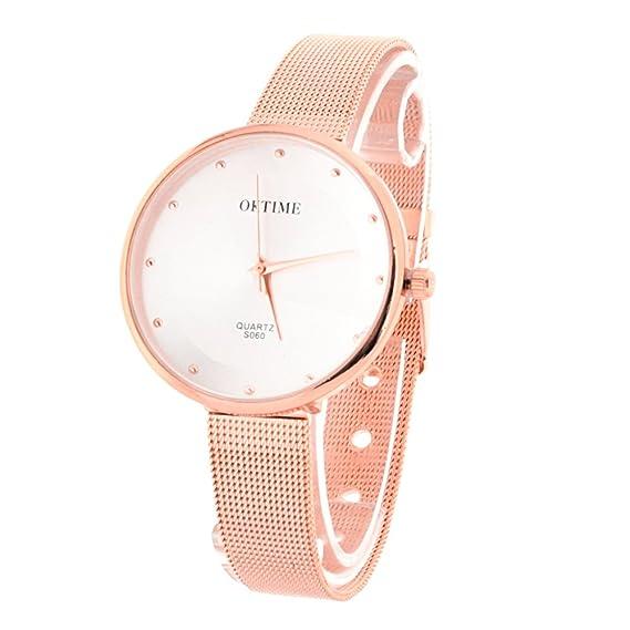 146a8e9f7615 BLACK MAMUT Reloj Diseño Clásico Para Mujer Con Correa y Acabados Color  Bronce Brillante Modelo Soucy