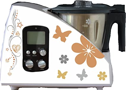 Robot de cocina pegatinas Tribal Flores rejilla para Monsieur Cuisine: Amazon.es