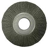 Weiler 86128 Burr-Rx Crimped Filament Wheel Brush, 8'', 0.55/120CG Fill, 2'' Arbor Hole