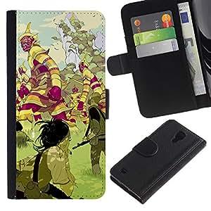 ZCell / Samsung Galaxy S4 IV I9500 / Mystical Land Creatures Fairytale / Caso Shell Armor Funda Case Cover Wallet / Místicos Terreno criat