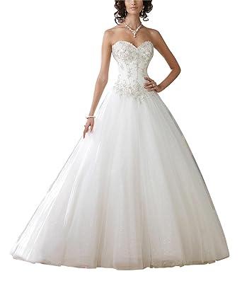 GEORGE BRIDE Garn A-Linie Prinzessin Brautkleider Hochzeitskleider ...