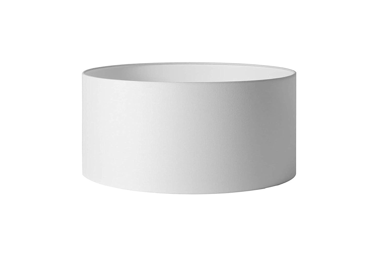 Ombres & Lumieres OLCYL30BCLINPVCTR Abat-Jour Cylindre, Lin, Blanc cassé , 30x30x20 Blanc cassé