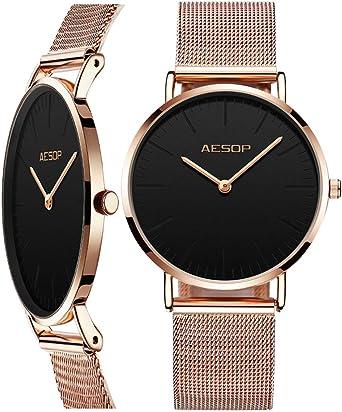 Amazon - Reloj de Pulsera para Mujer, ultradelgado, para Mujer ...