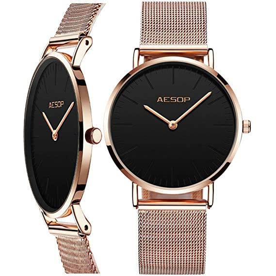 77a2bd5916 Amazon Watch,Lady Watch Ultra Thin Dress Watch for Ladies,Simple Wrist  Watch for Women,Classic Womens Watch Rose Gold Female Watch ...