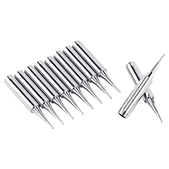 10Pcs Consejos de soldadura Sharp Soldering Replacement Solder Iron Tips Station Tool 900M-T-I