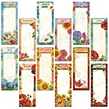 12 Months Magnetic Shopping List Pads - Set of 12 (1 of each)