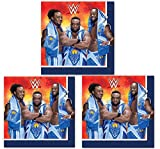 Wrestling WWE BASH Napkins Lunch Party Decoration 48 Pieces Pack