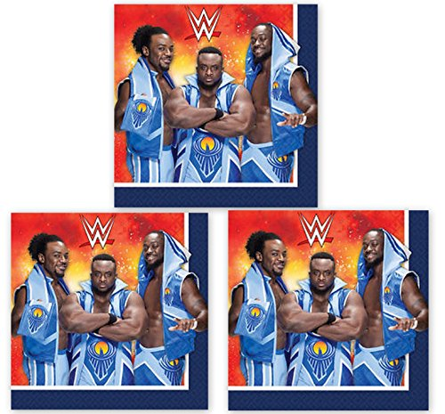Wrestling WWE BASH Napkins Lunch Party Decoration 48 Pieces Pack by DPW