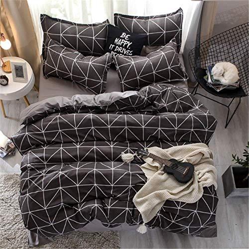 SSHHJ Simple Classic Queen Bedding Set Bed Linen Set Duvet Cover Set Pastoral G 200x230cm -