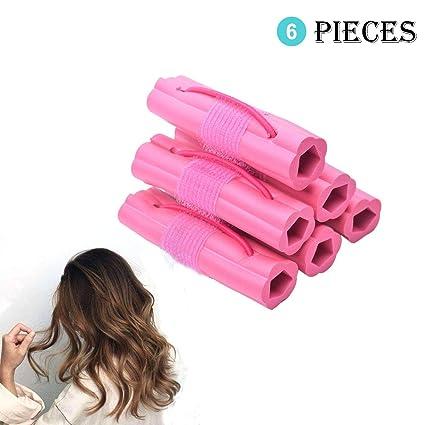 6 rizadores de pelo de espuma mágica de Aroong, para uso ...