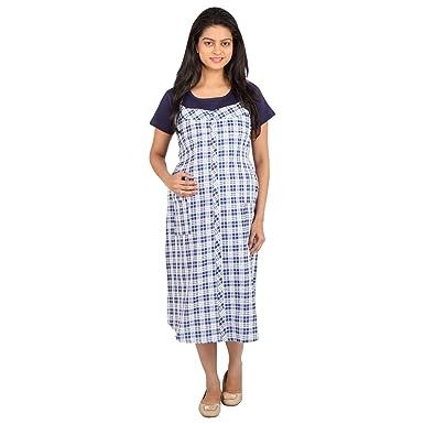 35bade1805c7b MomToBe Maternity - Navy Blue Check Print Maternity Dress/Maternity Wear/Pregnancy  Wear/