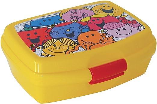 Fun House 005187 Monsieur Madame Caja de merienda para niños, Polipropileno, Multicolor 17 x 13,5 x 6,5 cm: Amazon.es: Hogar