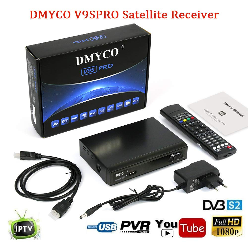Satellite Receiver FTA Signal Meter TV Tuner Sat Decoder DVB-S2 Digital TV Equipment , Supports MPEG-5 USB PVR Function, Multiple LNB-Switching Control, M3U File
