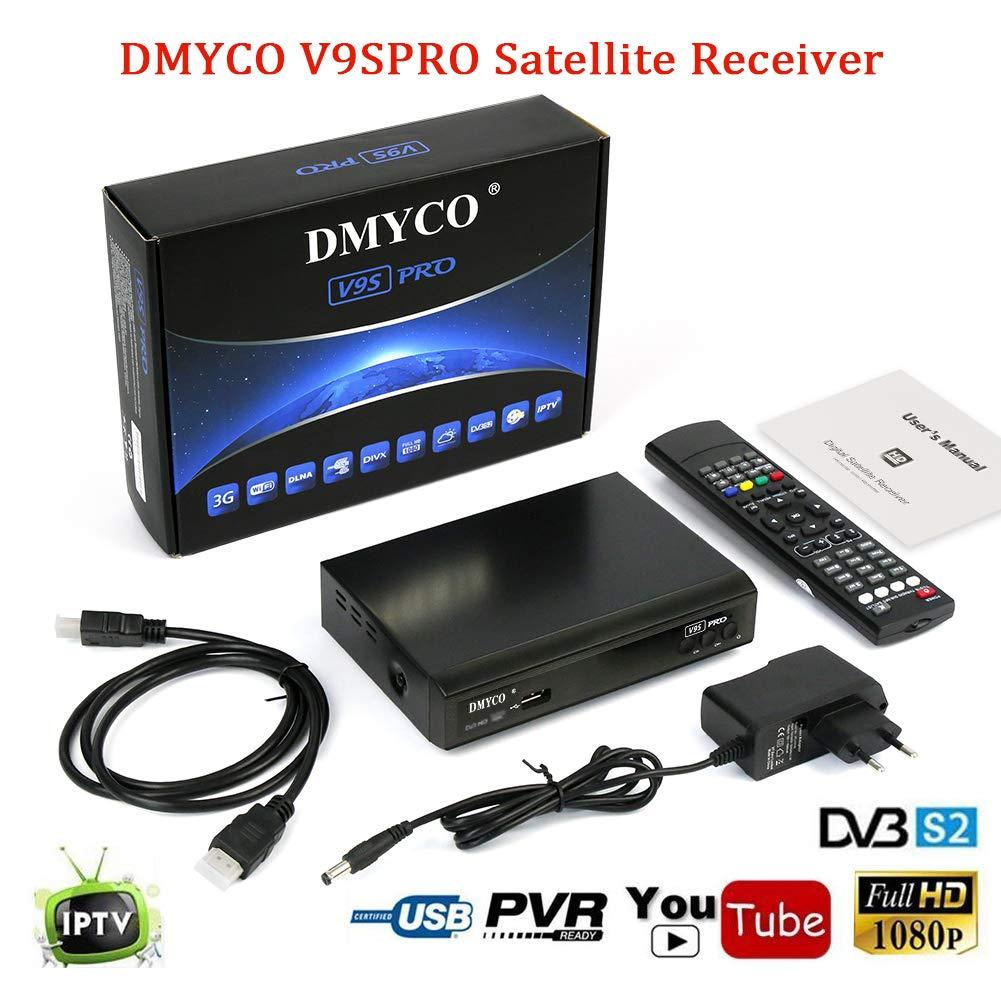 Satellite Receiver FTA Signal Meter TV Tuner Sat Decoder DVB-S2 Digital TV Equipment , Supports MPEG-5 USB PVR Function, Multiple LNB-Switching Control, M3U File