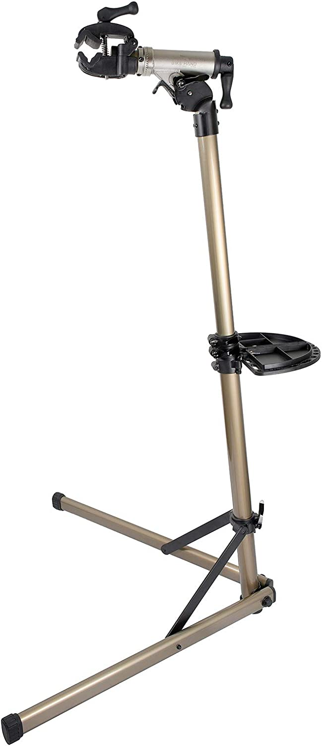 Bikehand E Bike Repair Stand (Max 110 lbs)-Heavy Duty- Home Portable Bicycle Mechanics Workstand - Great for EBIKE Mountain Bikes and Road Bikes Maintenance