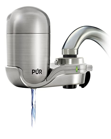 stainless steel water filter faucet. PUR Stainless Steel Style Faucet Mount  1 Mineral Clear Water Filter
