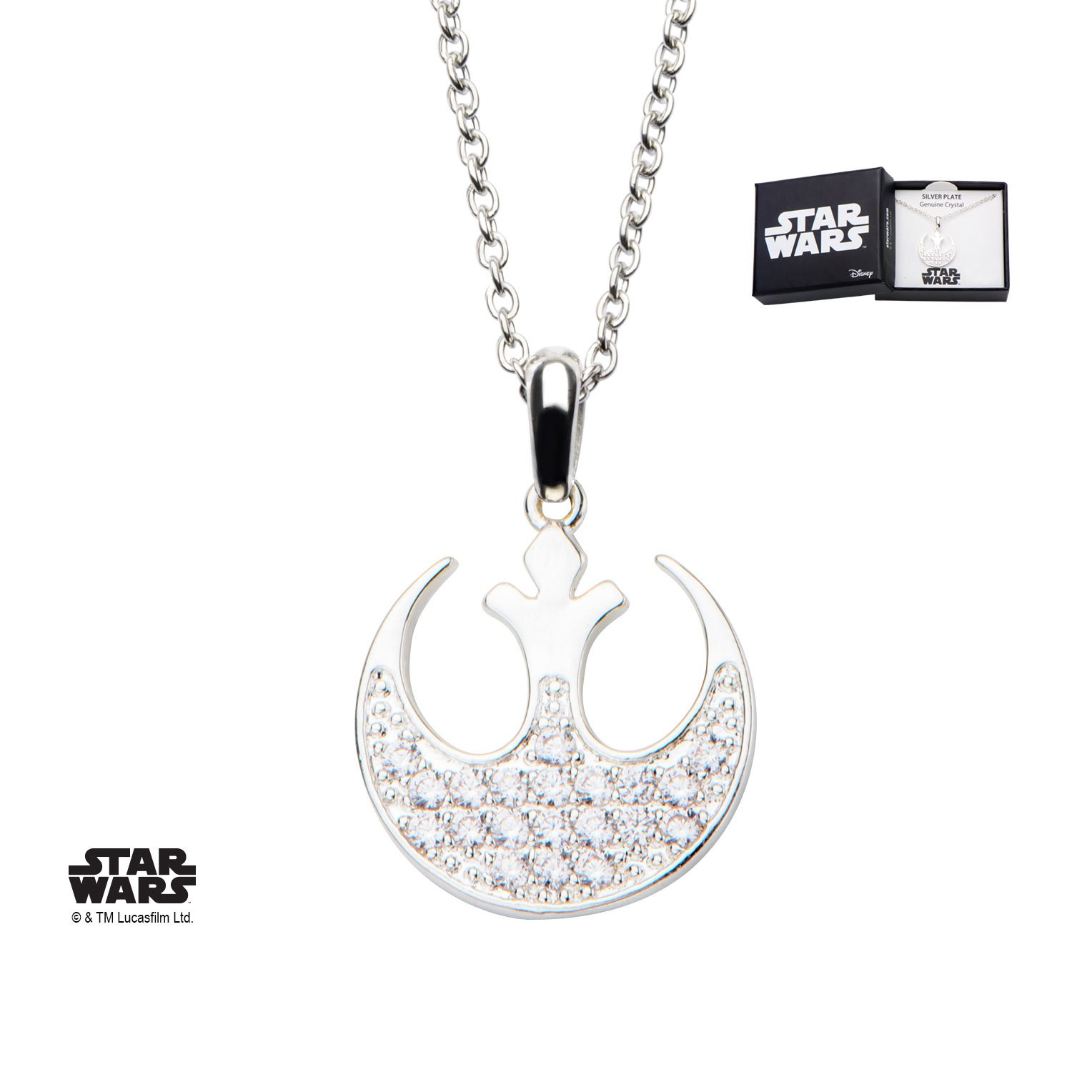 Star Wars Rebel Alliance Symbol Stainless Steel Pendant Necklace w/Gift Box by Superheroes Brand