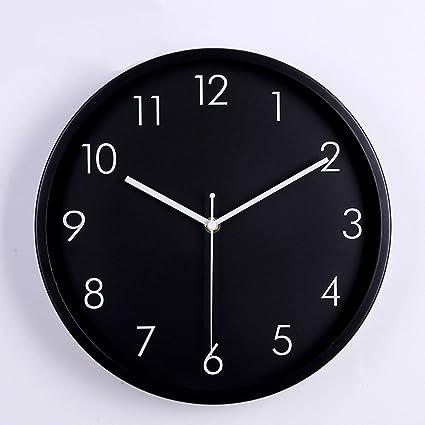 VariousWallClock Wall Clock Reloj de Pared Relojes Multiuso péndulo Minimalista Moderno Marco de Aluminio Cepillado en