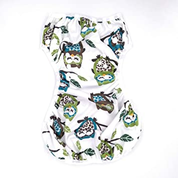 Swim Diaper for Baby Swimming Underwear for Babies 17.64-45.5lbs Swim Lesson, Reusable Washable Soft Breathable Adjustable Diapers, Best Girls Boys Shower Gifts - Eco-Friendly 1pcs (Owl)