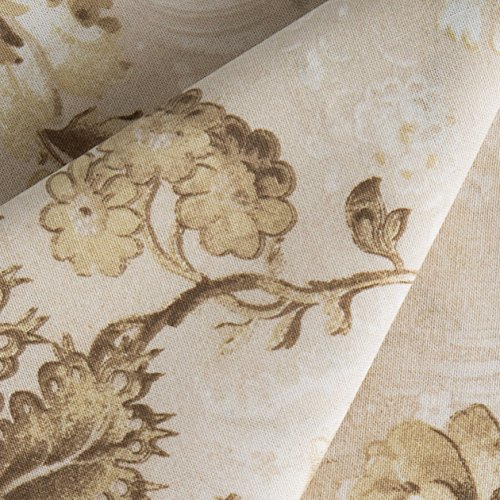 Connecting Threads 104 Inch Wide Backing Cotton Fabric 3 Yard Cut (Elegant Floral - Lt Taupe)