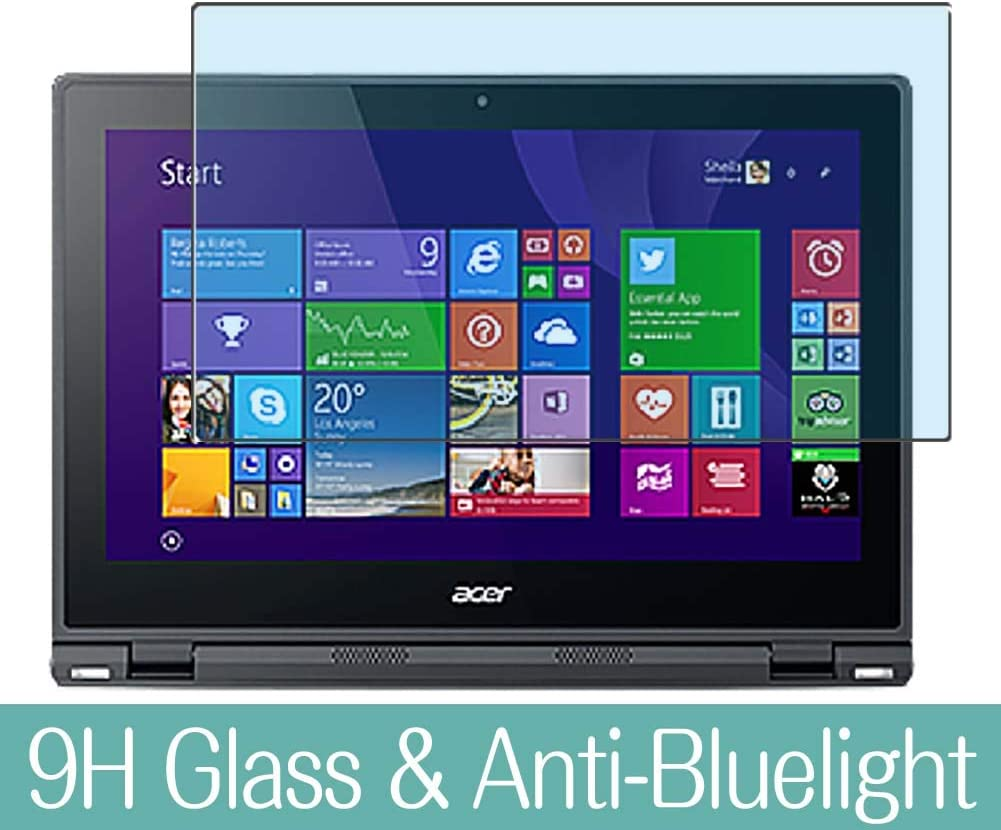 """Synvy Anti Blue Light Tempered Glass Screen Protector for Acer Aspire Switch 12 SW5-271 12.5"""" Visible Area 9H Protective Screen Film Protectors (Not Full Coverage)"""