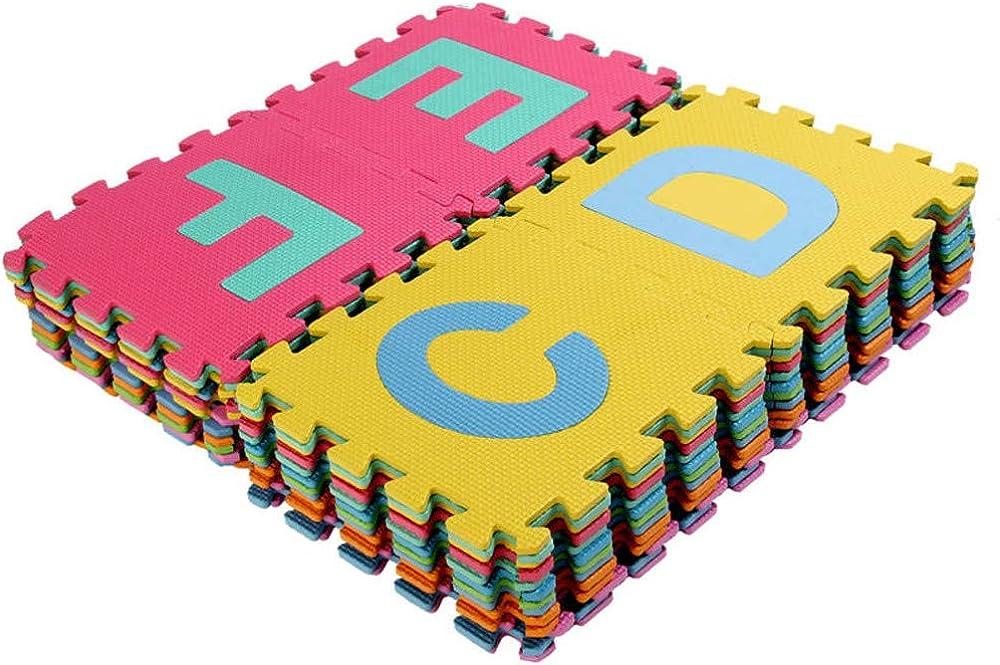 36PCS Alphabet Numbers Waterproof EVA Floor Mat Baby Room ABC Foam Puzzle