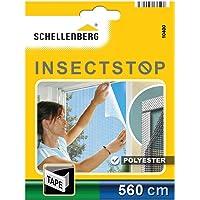 Schellenberg 10400 noppen bevestigingstape voor polyester horrengaas, 5,6 m, Wit