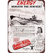 1942 Baby Ruth and Submarines Vintage Look Reproduction Metal Tin Sign 8X12 Inches