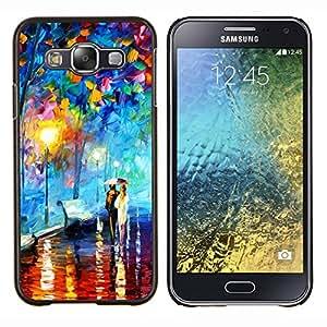LECELL--Funda protectora / Cubierta / Piel For Samsung Galaxy E5 E500 -- Colorful City Park --