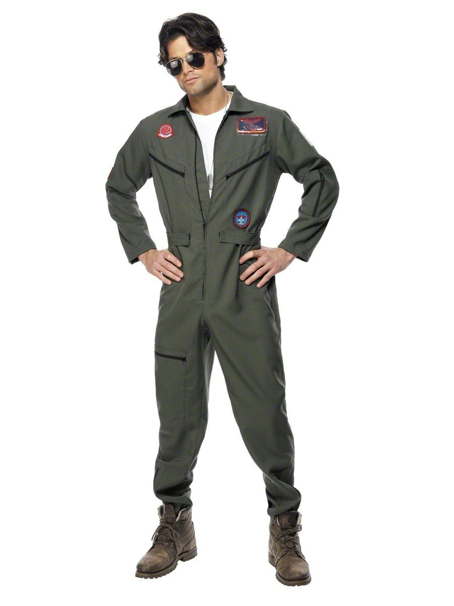 Mens Top Gun Maverick Bomber Jacket Fancy Dress Costume: Amazon.co ...
