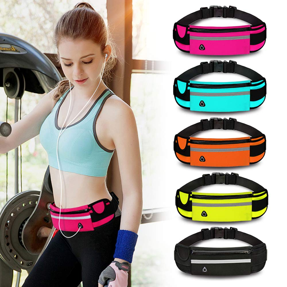 Running Pouch Belt Waist Bag Fanny Pack Hiking Sports Fitness Pockets for Women /& Men During Cycling Travel Workout Climbing,Blue