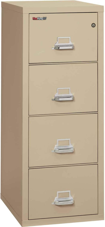 Fireking Four-Drawer Vertical File FIR41825CPA