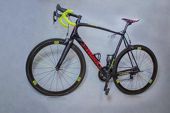 Soporte de pared para bicicleta trelixx en acrílico transparente (acabado láser) para bicicleta de montaña/de carreras, soporte de diseño para bicicleta con montaje en la pared: Amazon.es: Deportes y aire libre