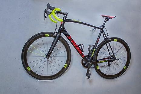 trelixx Soporte de Pared para Bicicleta acrílico Transparente (Acabado Láser) para Bicicleta de Montaña