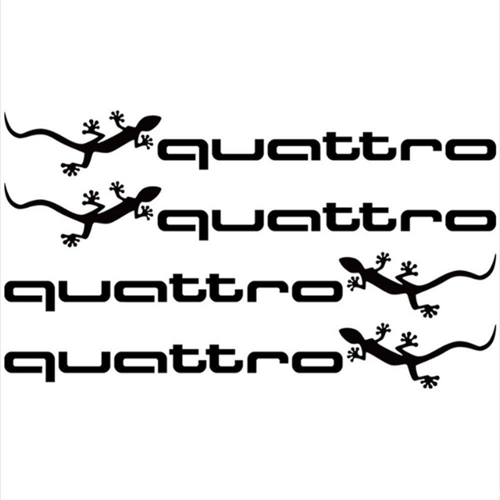 Amazon com 4pcs white black car sports stickers quattro doorhandle decals styling decoration for audi a1 a3 a4 a5 a6 a7 a8 q3 q5 q7 s3 s4 s5 s6 s7 s8 tt