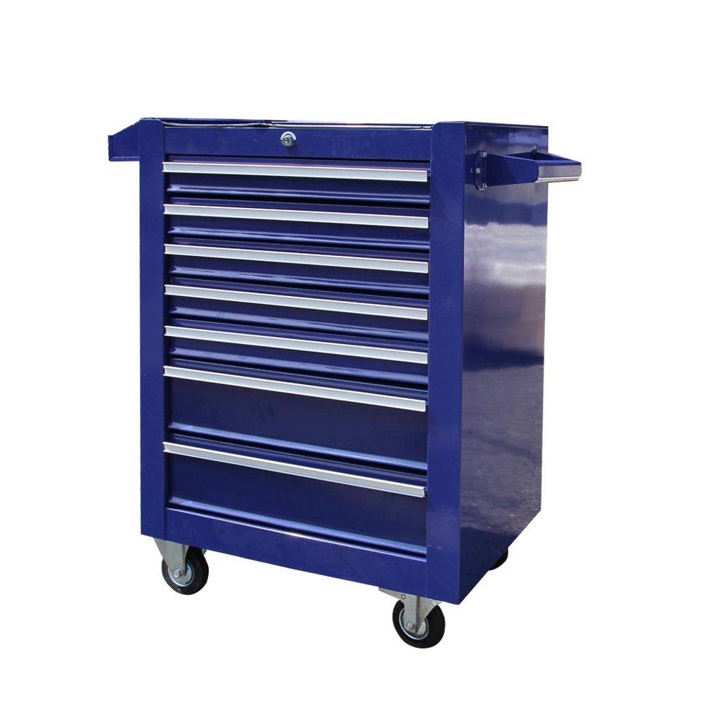 7段 キャスター付き ローラーキャビネット 工具箱 ツールボックス プロ仕様工具箱 B01DW3SYZO ブルー