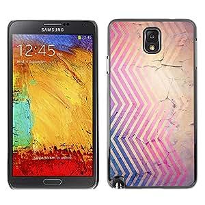 X-ray Impreso colorido protector duro espalda Funda piel de Shell para SAMSUNG Galaxy Note 3 III / N9000 / N9005 - Cracked Pink Blue Brown Red