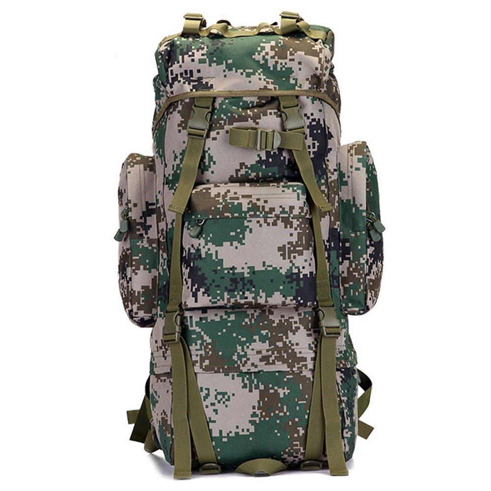 ALUP- カモハイキングバックパック、防水戦術リュックサックアウトドアスポーツ旅行トレッキングランニングメンズ大容量 (サイズ さいず : 70L) 70L  B07N37SQ2W