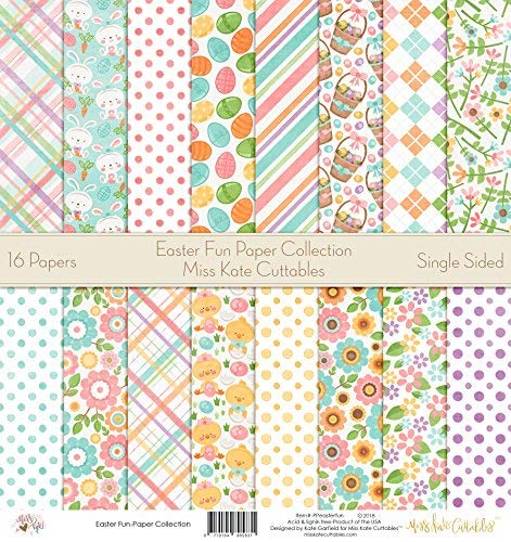 - Pattern Paper Pack - Easter Fun - Scrapbook Premium Specialty Paper Single-Sided 12