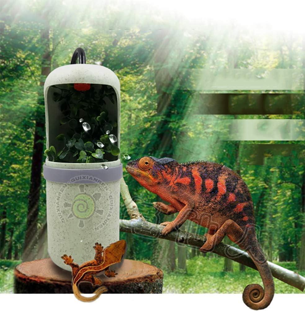 YEIU Fuente de consumición del Reptil, purificador automático del Agua de riego con la función de la purificación del Agua, para Que el Reptil proporcione el Agua Potable y la Humedad: Amazon.es: