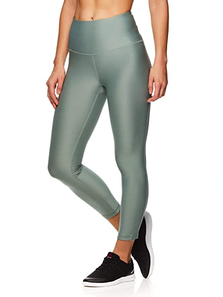 632ecaec668a1c Reebok Women's Capri Workout Leggings w/High-Rise Waist - Cropped Performance  Compression Tights: Amazon.ca: Clothing & Accessories