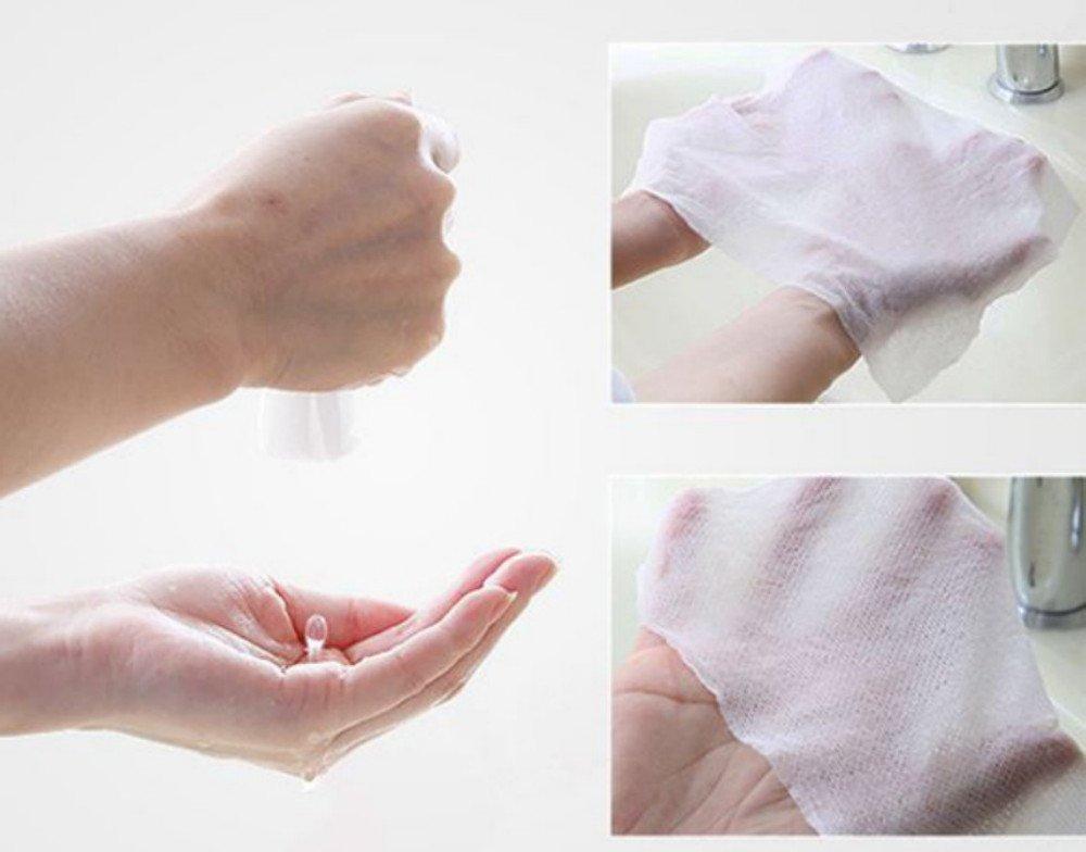 Tokkids lingettes d/éshumidifi/é lingettes nettoyantes bebe pour le visage et les mains de b/éb/é 144 pcs coin tissue lingettes compress/ées