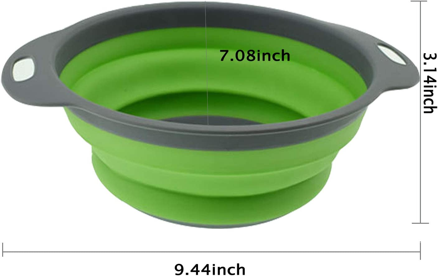 Blue Folding Strainer for Kitchen KABB Collapsible Sink Vegetable//Fruit Colanders Extendable Handles Small