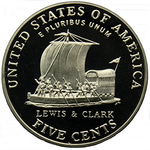 2004 S Keelboat Lewis Clark Jefferson Proof Nickel Coin