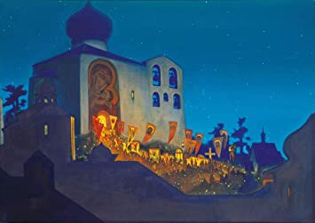 Berkin Arts Nicholas Roerich Giclee Canvas Print Paintings Poster Reproduction Easter Night Posters Prints Amazon Com