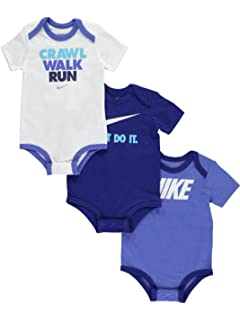 Amazon.com: Nike Jordan Infant New Born Baby Bodysuit 3 Pcs Layette ...